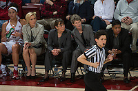 Stanford, Ca - February 3, 2016: The Stanford Cardinal defeats the visiting USC Trojans to secure the 1000th win for Head Coach Tara Vanderveer.