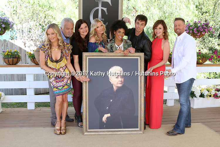 "LOS ANGELES - APR 14:  Jennifer Gareis, John McCook, Heather Tom, Katherine Kelly Lang, Matt Iseman, Karla Mosley, Darin Brooks, Bobbie Eakes, Jacob Young, Susan Flannery portrait at the ""Home and Family"" Celebrates ""Bold and Beautiful's"" 30 Years at Universal Studios Back Lot on April 14, 2017 in Los Angeles, CA"
