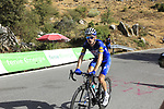 Dries Devenyns (BEL) Quick-Step Floors climbs Sierra de la Alfaguara during Stage 4 of the La Vuelta 2018, running 162km from Velez-Malaga to Alfacar, Sierra de la Alfaguara, Andalucia, Spain. 28th August 2018.<br /> Picture: Eoin Clarke   Cyclefile<br /> <br /> <br /> All photos usage must carry mandatory copyright credit (&copy; Cyclefile   Eoin Clarke)