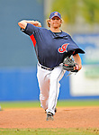 11 March 2008: Cleveland Indians' pitcher Rick Bauer on the mound during a Spring Training game against the Detroit Tigers at Chain of Lakes Park, in Winter Haven Florida. The Tigers rallied to defeat the Indians 4-2 in the Grapefruit League matchup...Mandatory Photo Credit: Ed Wolfstein Photo