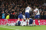 Tottenham's Moussa Sissoko celebrates with team mates after scoring to make it 3-0 during the Premier League match at the Tottenham Hotspur Stadium, London. Picture date: 30th November 2019. Picture credit should read: Paul Terry/Sportimage