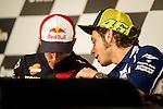 Jerez Circuit. Jerez de la Frontera. 01.05.2014. Press conference prior to the Grand Prix MotoGP Jerez. Valentino Rossi and Marc Marquez