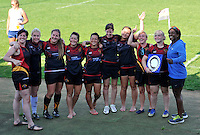 St Albans, England. Valentines 7s women's tournament  at  Woollam's Playing Fields, St Albans, England on July19,2014.