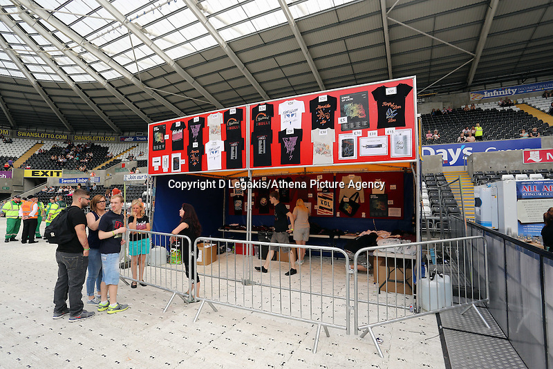 Pictured: Official merchandise. Wednesday 02 July 2014<br />