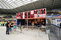 Pictured: Official merchandise. Wednesday 02 July 2014<br /> Re: Kings of Leon at the Liberty Stadium, Swansea, south Wales.