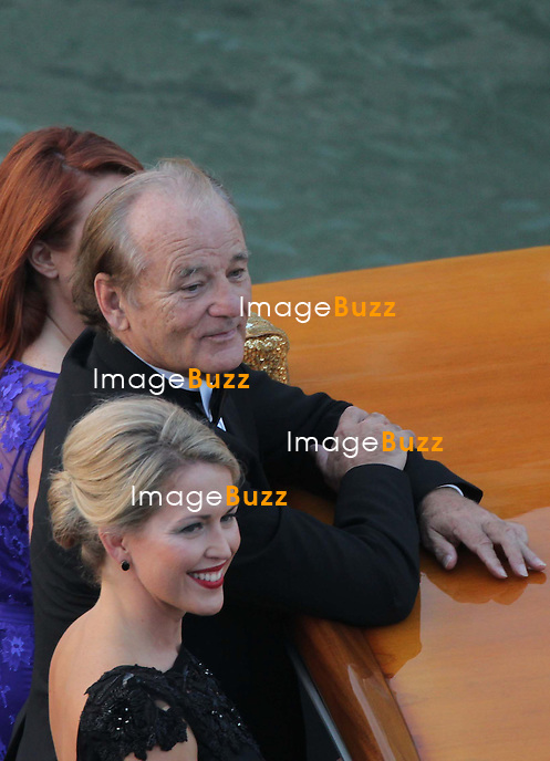 Bill Murray - GEORGE CLOONEY &amp; AMAL ALAMUDDIN WEDDING CEREMONY AT THE AMAN RESORTS HOTEL IN VENICE - <br /> George Clooney &amp; British fiancee Amal Alamuddin and guests on taxi boat on the Grand Canal on their way to the seven-star Aman Hotel for the wedding celebrations.<br /> Robert De Niro, Matt Damon, Brad Pitt and Cate Blanchett were among the other stars, like Cindy Crawford, Rande Geber, Bill Murray, Emily Blunt.<br /> Italy, Venice, 27 September, 2014.