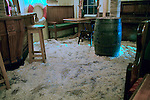 Sawdust on the floor of traditional pub, Weymouth, Dorset, England