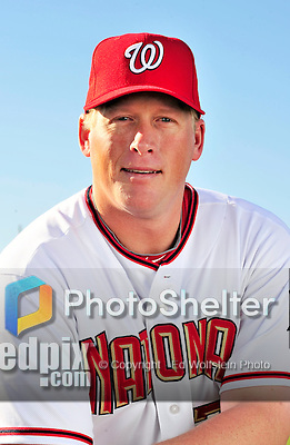 28 February 2010: Washington Nationals relief pitcher Tyler Walker poses for his Spring Training photo at Space Coast Stadium in Viera, Florida. Mandatory Credit: Ed Wolfstein Photo