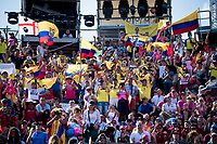 Ecuadorian fans awaiting the arrival of their national hero Richard Carapaz (ECU/Movistar) in the Verona amphitheater (after finishing the closing iTT)<br /> <br /> Stage 21 (ITT): Verona to Verona (17km)<br /> 102nd Giro d'Italia 2019<br /> <br /> ©kramon