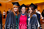 Sarah McAuliffe and Lira Hoxha (both Tralee, Information Systems Management) with Tina Kastrati (Tralee, Batchelors of Business Degree), pictured at the IT Tralee graduation ceremony held at the Brandon Conference Centre, Tralee on Friday last.