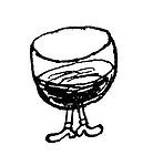 Alcohoffnung. (A wine glass with legs)