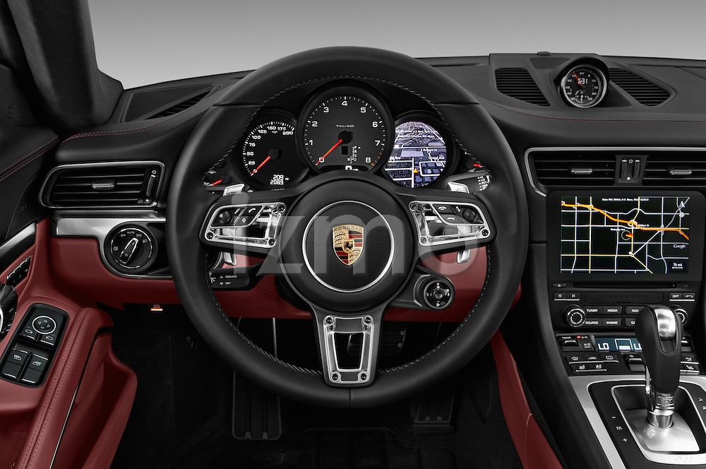 Car pictures of steering wheel view of a 2017 Porsche 911 Carrera S 2 Door Coupe Steering Wheel