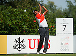 Thaworm Wiratchat from Thailand hits the ball during Hong Kong Open golf tournament at the Fanling golf course on 22 October 2015 in Hong Kong, China. Photo by Xaume Olleros / Power Sport Images