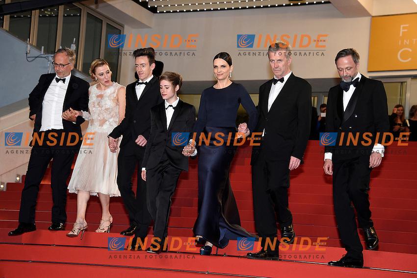 Fabrice Luchini, Juliette Binoche, Valeria Bruni-Tedeschi<br /> Festival di Cannes 2016 <br /> Foto Panoramic / Insidefoto