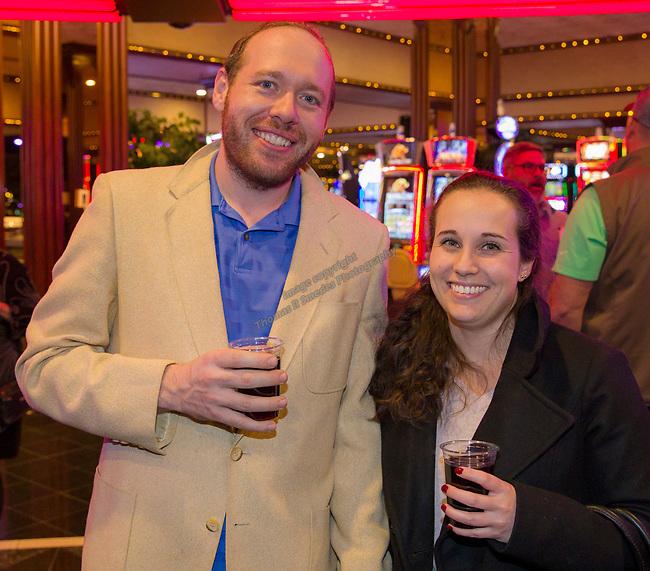 Zachary Draper and Melissa Busalacchi during the Sheep Dip 54 Show at the Eldorado Hotel & Casino on Friday night, Jan. 12, 2018.