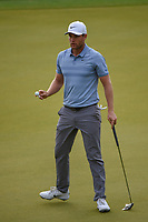 Lucas Bjerregaard (DEN) after sinking his putt on 2 during day 4 of the WGC Dell Match Play, at the Austin Country Club, Austin, Texas, USA. 3/30/2019.<br /> Picture: Golffile | Ken Murray<br /> <br /> <br /> All photo usage must carry mandatory copyright credit (© Golffile | Ken Murray)