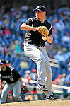 10 July 2011: Colorado Rockies pitcher Matt Reynolds on the mound against the Washington Nationals at Nationals Park in Washington, District of Columbia. The Nationals shut out the visiting Rockies 2-0 salvaging the last game their 3-game series at home prior to the All-Star break. Mandatory Credit: Ed Wolfstein Photo