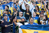 LA Galaxy forward Tristan Bowen (17) celebrates scoring his goal. The LA Galaxy defeated Boca Juniors 1-0 at Home Depot Center stadium in Carson, California on Sunday May 23, 2010.  .