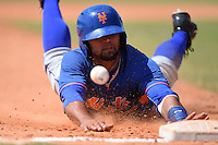 New York Mets catcher Adrian Abreu (82) during a minor league spring training game against the Miami Marlins on March 30, 2015 at the Roger Dean Complex in Jupiter, Florida.  (Mike Janes/Four Seam Images)