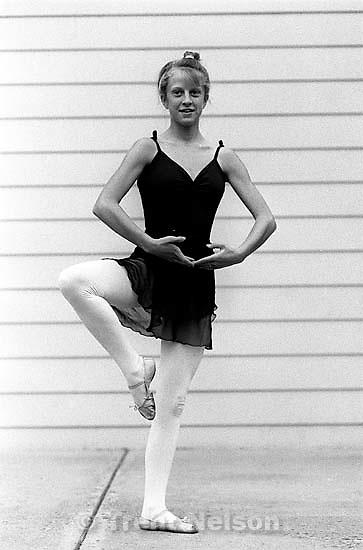 Pat Quayle doing ballet<br />