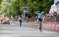 stage winner Pello Bilbao (ESP/Astana) at the finish in L'Aquila<br /> <br /> Stage 7: Vasto to L'Aquila (180km)<br /> 102nd Giro d'Italia 2019<br /> <br /> ©kramon