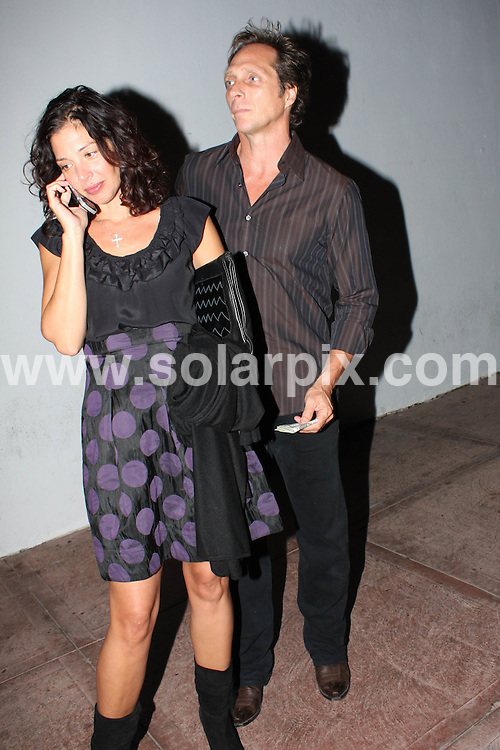 **ALL ROUND PICTURES FROM SOLARPIX.COM**.**WORLDWIDE SYNDICATION RIGHTS**.**NO PUBLICATION IN AUSTRALIA, NEW ZEALAND,.DENMARK, GERMANY OR USA**.William Fichtner and his girlfriend wait patiently for their vehicle after dining at Beso Restaurant in Hollywood, California, USA. 19th September 2008...JOB REF: 7421 LAP(CW)       DATE: 19_09_2008.**MUST CREDIT SOLARPIX.COM OR DOUBLE FEE WILL BE CHARGED* *UNDER NO CIRCUMSTANCES IS THIS IMAGE TO BE REPRODUCED FOR ANY ONLINE EDITION WITHOUT PRIOR PERMISSION*