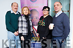 William Doherty from Killarney, Margaret O'Connor of Castleisland, Kristene Silina of Tralee and John Carroll of Tralee enjoying the coffee morning in aid of Tir Na nÓg Orphanage in Tanzania.