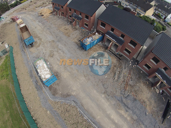 the newly constructed homes in Moneymore that are now being demolished and rebuilt.<br /> Picture:  Fran Caffrey www.newsfile.ie