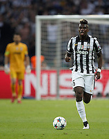 Calcio, finale di Champions League Juventus vs Barcellona all'Olympiastadion di Berlino, 6 giugno 2015.<br /> Juventus' Paul Pogba in action during the Champions League football final between Juventus Turin and FC Barcelona, at Berlin's Olympiastadion, 6 June 2015. Barcelona won 3-1.<br /> UPDATE IMAGES PRESS/Isabella Bonotto