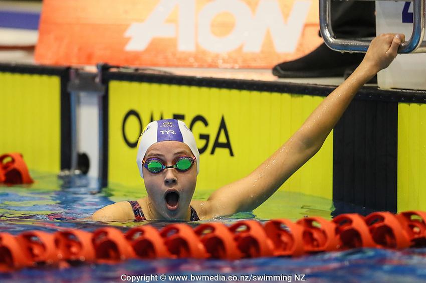 Melissa Cowan. Swimming New Zealand Aon National Age Group Championships, Wellington Regional Aquatic Centre, Wellington, New Zealand, Wednesday 17 April 2019. Photo: Simon Watts/www.bwmedia.co.nz