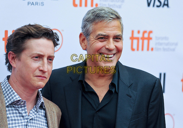 11 September 2015 - Toronto, Ontario, Canada - David Gordon Green, George Clooney. &quot;Our Brand Is Crisis&quot; Premiere during the 2015 Toronto International Film Festival held at Princess of Wales Theatre.  <br /> CAP/ADM/BPC<br /> &copy;Brent Perniac/AdMedia/Capital Pictures