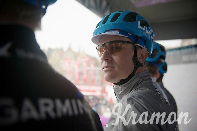Nick Nuyens (BEL/Garmin-Sharp) on the start podium giving us a 'look'<br /> <br /> Dwars Door Vlaanderen 2014
