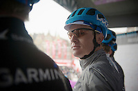 Nick Nuyens (BEL/Garmin-Sharp) on the start podium giving us a 'look'<br /> <br /> Dwars Door Vlaanderen 2014
