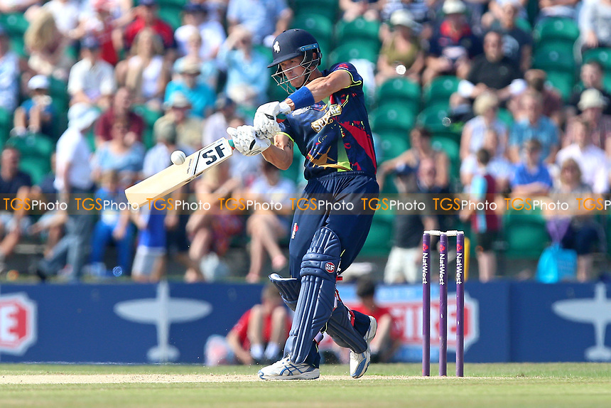 Joe Denly hits out for Kent during Kent Spitfires vs Essex Eagles, NatWest T20 Blast Cricket at The County Ground on 9th July 2017