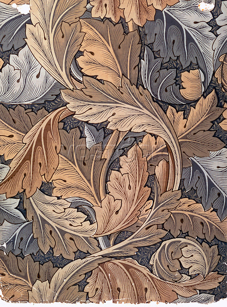 'Acanthus', wallpaper designed by William Morris, 1875. <br />