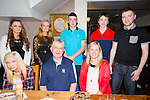 Celebrating his 50th birthday on Saturday night with family at Bella Bia's was Sean Lynch from Ballymac Tralee, Pictured  front l-r Nicky O'Sullivan, Sean Lynch (birthday boy) and Ellen Lynch. Back l-r Emer Lynch, Jana Foley, Shane Lynch, Darragh Lynch, Cormac Lynch,