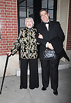 Celeste Holm & Frank Basile.arriving the Broadway Opening Night Performance of ALL ABOUT ME at the Henry Miller Theatre, New York City..March 18, 2010.