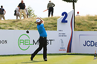 John Parry (ENG) on the 2nd tee during Round 1 of the D+D Real Czech Masters at the Albatross Golf Resort, Prague, Czech Rep. 31/08/2017<br /> Picture: Golffile | Thos Caffrey<br /> <br /> <br /> All photo usage must carry mandatory copyright credit     (&copy; Golffile | Thos Caffrey)
