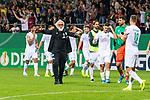10.08.2019, wohninvest WESERSTADION, Bremen, GER, DFB-Pokal, 1. Runde, SV Atlas Delmenhorst vs SV Werder Bremen<br /> <br /> im Bild<br /> Friedrich Munder (Zeugwart Werder Bremen) beim Schlussjubel von Werder Bremen mit auf dem Platz, <br /> <br /> während DFB-Pokal Spiel zwischen SV Atlas Delmenhorst und SV Werder Bremen im wohninvest WESERSTADION, <br /> <br /> Foto © nordphoto / Ewert