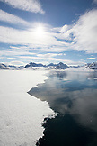 SVALBARD, Longyearban, Sankt Jons Fjord in the Arctic Landscape
