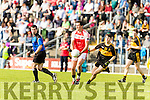 Jordan Kiely Dr Crokes in action against Breandán Kelliher Dingle in the Senior County Football Semi Final in Fitzgerald Stadium on Sunday.