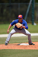 New York Mets Eudor Garcia (24) during practice before a minor league spring training game against the St. Louis Cardinals on April 1, 2015 at the Roger Dean Complex in Jupiter, Florida.  (Mike Janes/Four Seam Images)