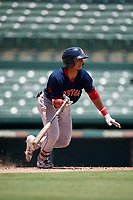 GCL Red Sox Oscar Rangel (39) bats during a Gulf Coast League game against the GCL Orioles on July 29, 2019 at Ed Smith Stadium in Sarasota, Florida.  GCL Red Sox defeated the GCL Pirates 9-1.  (Mike Janes/Four Seam Images)