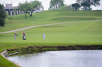 Inbee Park (KOR) hits her approach shot over the water on 8 during round 2 of  the Volunteers of America Texas Shootout Presented by JTBC, at the Las Colinas Country Club in Irving, Texas, USA. 4/28/2017.<br /> Picture: Golffile | Ken Murray<br /> <br /> <br /> All photo usage must carry mandatory copyright credit (&copy; Golffile | Ken Murray)