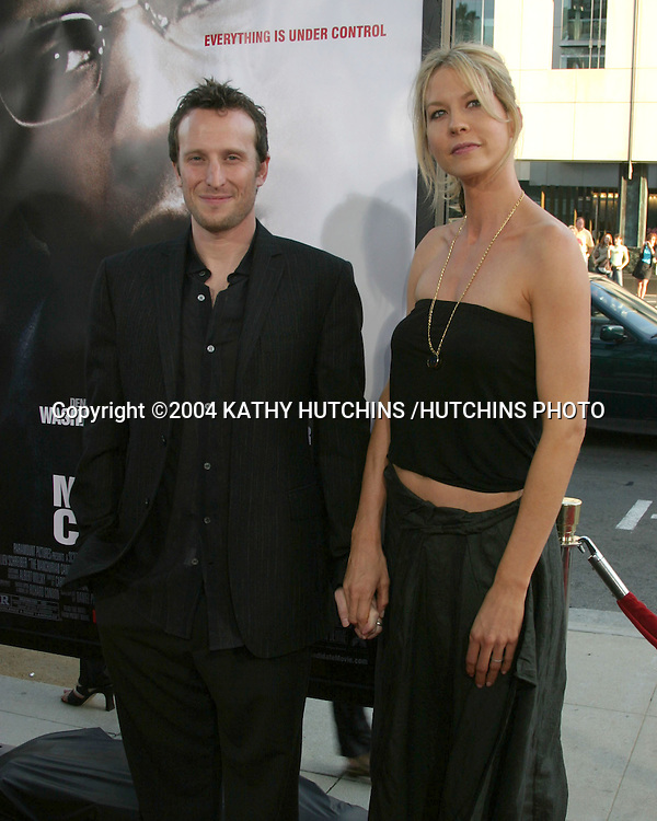 "©2004 KATHY HUTCHINS /HUTCHINS PHOTO.PREMIERE OF ""MANCHURIAN CANDIDATE"".BEVERLY HILLS, CA.JULY 21, 2004..BOHDI ELFMAN.JENNA ELFMAN"