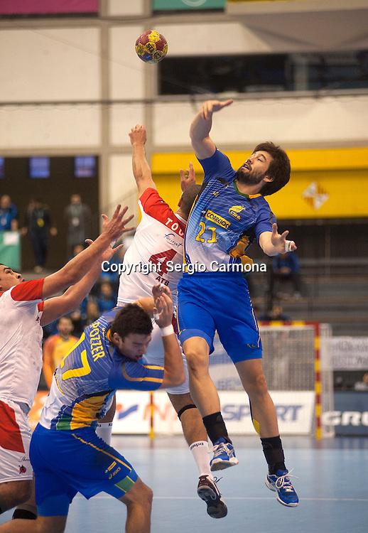23rd IHF Men's World Championship; BRA-TUN.Gustavo Cardoso (BRA).
