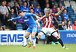 Gillingham's Billy Knott tussles with Sheffield United's Kieon Freeman during the League One match at the Priestfield Stadium, Gillingham. Picture date: September 4th, 2016. Pic David Klein/Sportimage