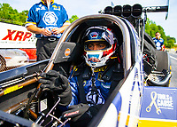 May 4, 2018; Commerce, GA, USA; NHRA funny car driver Antron Brown during qualifying for the Southern Nationals at Atlanta Dragway. Mandatory Credit: Mark J. Rebilas-USA TODAY Sports