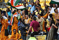 Indian fans celebrate during the 2nd ODI cricket match between the New Zealand Black Caps and India at Westpac Stadium, Wellington, New Zealand on Friday, 6 March 2009. Photo: Dave Lintott / lintottphoto.co.nz
