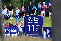 Matthew Fitzpatrick (ENG) on the 11th during Round 3 of the Aberdeen Standard Investments Scottish Open 2019 at The Renaissance Club, North Berwick, Scotland on Saturday 13th July 2019.<br /> Picture:  Thos Caffrey / Golffile<br /> <br /> All photos usage must carry mandatory copyright credit (© Golffile | Thos Caffrey)